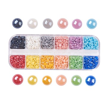 4mm Mixed Color Half Round Porcelain Cabochons