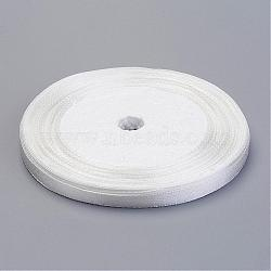 Ruban de satin pour décoration de mariage, blanc comme le lait, 25yards / roll (22.86m / roll)(X-RC6mmY042)