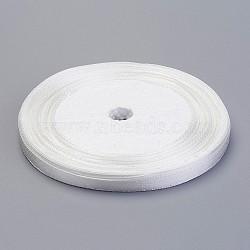 Атласная лента для украшения венчания, молочно-белый, 25yards / рулон (22.86 м / рулон)(X-RC6mmY042)