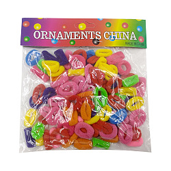 Accessoires de cheveux pour filles, Porte-queue de cheval, élastiques à cheveux, couleur mixte, 20 mm; environ 96~100 PCs / sac(OHAR-S197-004)