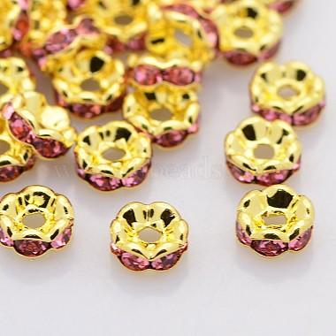 Perles séparateurs en laiton avec strass(RB-A014-L7mm-23G)-1