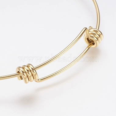 Adjustable 304 Stainless Steel Bangles(X-BJEW-P184-08G)-2