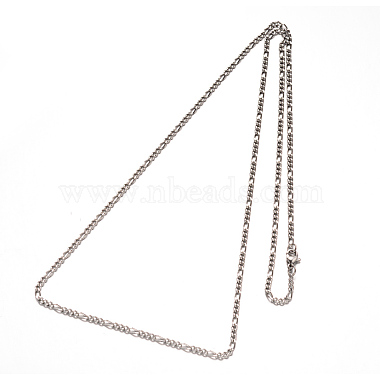 304 Stainless Steel Figaro Chains Necklaces(NJEW-G310-02P)-2