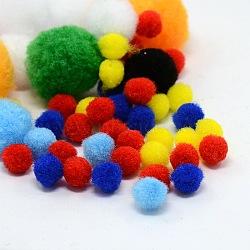 Bracelet en laine mélangée ronde pom pom ball artisanat fait à la main bracelet accessoires, couleur mixte, 10~30mm(AJEW-X0001)
