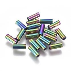 Perles de tube en 304 acier inoxydable, multicolore, 8x3mm, Trou: 2mm(STAS-F224-01M-C)