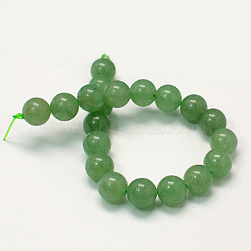 Natural Green Aventurine Beads Strands, Round, Light Green, 8mm, Hole: 1mm, about 24pcs/strand, 7.8 inches(X-G-G099-8mm-17)
