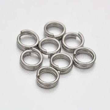 Brass Split Rings, Platinum, 5x1.5mm; about 3.5mm inner diameter; about 6250pcs/500g(KK-E647-08P)