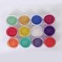 Nail Pearl Powder, Nail Decoration, Mixed Color, about 12box/set