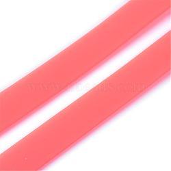Cordon en caoutchouc synthétique pvc solide, sans trou, plat, lightsalmon, 180x10x2.5 mm; environ 50 brins / sac(RCOR-Q015-11)