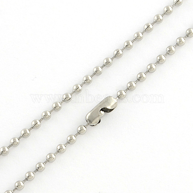 304 Stainless Steel Ball Chain Necklace Making(X-NJEW-R225-06)-2