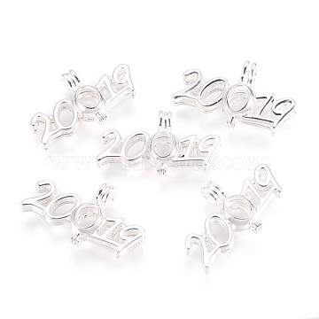 Silver Number Brass Pendants