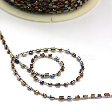 Plated Bugle Bead Cords(OCOR-R041-K04)-2