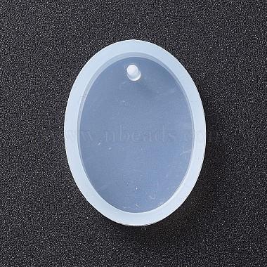 Oval Shape DIY Silicone Pendant Molds(AJEW-P038-01)-2