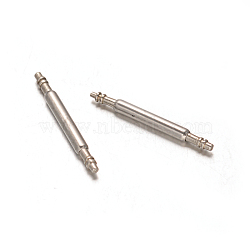 Stainless Steel Double Flanged Spring Bar Watch Strap Pins, Stainless Steel Color, 15x1.2mm(STAS-M231-04)