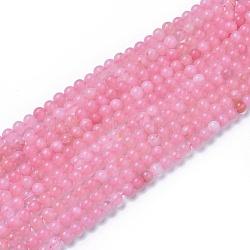 """Chapelets de perles en quartz rose naturel, rond, 8~8.5mm, trou: 1mm; environ 47 pcs/chapelet, 15""""~15.5""""(X-G-F591-04A-8mm)"""