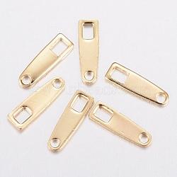 Onglets de chaîne en 304 acier inoxydable, connecteurs d'extension de chaîne, or, 10x3x0.8mm, Trou: 1.2~2.5mm(X-STAS-H436-08)