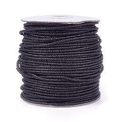 Cordon de polyester, noir, 2.5 mm; 50 yards / rouleau (150 pieds / rouleau)(OCOR-E017-01B-03)