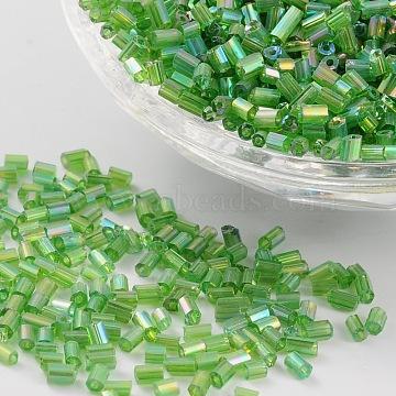 2mm Green Glass Beads