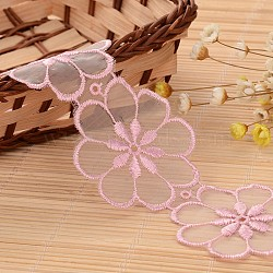 """Ruban en nylon avec garniture en dentelle pour la fabrication de bijoux, lavenderblush, 1-7/8"""" (48 mm); environ 32yards / rouleau (29.2608m / rouleau)(ORIB-L005-55A)"""