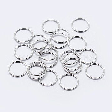 925 Sterling Silver Round Rings, Soldered Jump Rings, Platinum, 9x1mm, Inner Diameter: 7mm(X-STER-F036-03P-1x9)