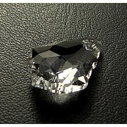 Pendentifs en cristal autrichien, baisse baroque, cristal,  largeur de 11 mm, Longueur 16mm(6090-16X11MM-001)