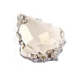 Pendentif en cristal autrichien, baisse baroque facettes, cristal Golden Shadow,  largeur de 15 mm, Longueur 22mm(6090-22X15MM-GSHA)