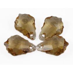 Autrichien perles de cristal pendentif, baroque gouttes, 001 GSHA-cristal Golden Shadow. trou: 1.2 mm(6090_11x16mm001GSHA)