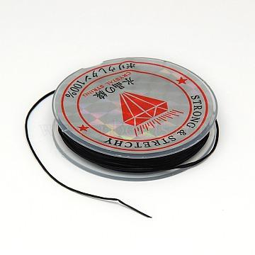 0.6mm Black Elastic Fibre Thread & Cord