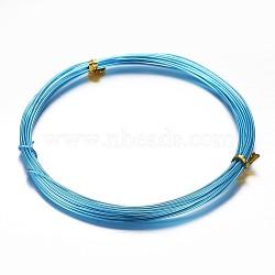 Fil d'aluminium, bleu foncé, 18 jauge, 1mm, 10m/rouleau(X-AW-D009-1mm-10m-16)