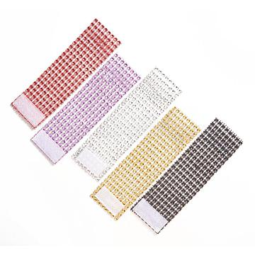 8 Rows Plastic Rhinestone Napkin Rings, Napkin Holder Adornment, for Place Settings, Wedding & Party Decoration, Mixed Color, 130x40x1mm, 138x39.3x2.5mm, about 100pcs/set(AJEW-YX0001-01)