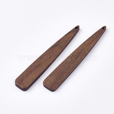 Undyed Walnut Wood Big Pendants(WOOD-T023-02)-2