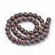 Natural Snowflake Obsidian Beads Strands(G-Q462-89-12mm)-2
