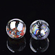 Handmade Blown Glass Globe Beads(X-DH017J-1-14mm-AB)-2