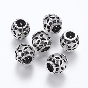 10mm Rondelle Alloy Beads