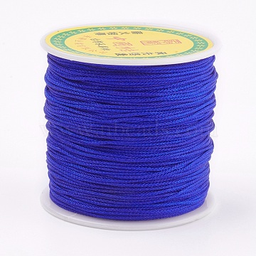Polyester Cord, Blue, 0.8mm; about 80m/roll(OCOR-P008-368)