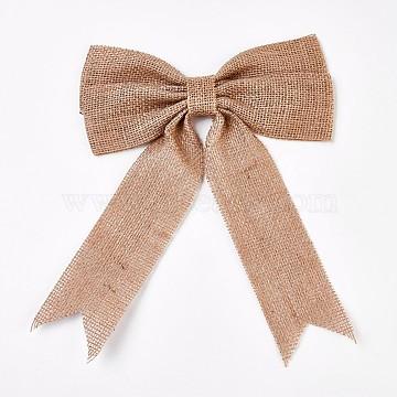 Linen Bowknot, PeachPuff, 21x25cm(DIY-WH0089-02)
