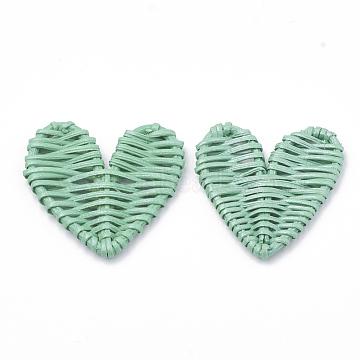 51mm Aquamarine Heart Others Beads