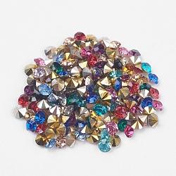 Strass en résine à pointe pointue de grade AAA, forme de diamant, couleur mixte, 2.0mm(X-CRES-R120-2.0mm-M)