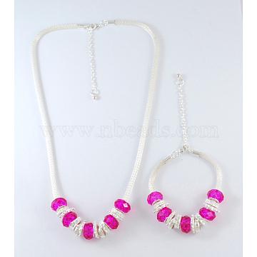DeepPink Glass Bracelets & Necklaces