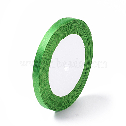 "1/4"" (6mm) de ruban de satin vert pour la décoration de fête diy hairbow, 25yards / roll (22.86m / roll)(X-RC6mmY019)"