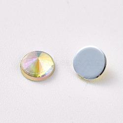 acrylique strass dos plat, ab couleur, cône, champagneyellow, 4.5x2.5 mm; sur 100 PCs / sac(OACR-WH0003-05A-02)
