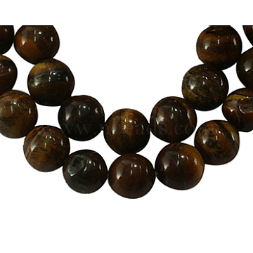 4mm CoconutBrown Round Tiger Eye Beads