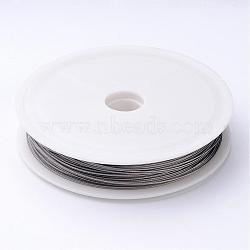 1 rouleau couleur d'origine, fil de queue de tigre, acier revêtu de nylon, gris clair, 0.6 mm de diamètre, environ 22 m / bibone (X-L0.6MM01)