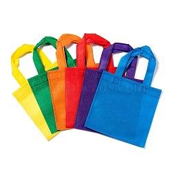 Eco-Friendly Reusable Bags, Non Woven Fabric Shopping Bags, Mixed Color, 33x19.7cm(ABAG-WH005-20cm-M)
