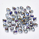 Transparent Spray Painted Glass Charms(X-GLAA-R211-03-D01)-1