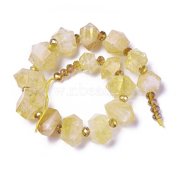 17mm Polygon Citrine Beads