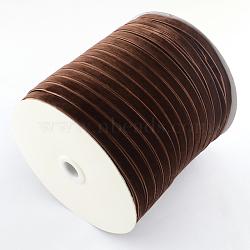 """3/8"""" Ruban de velours de simple face, coconutbrown, 3/8"""" (9.5 mm); environ 200yards / rouleau (182.88m / rouleau)(OCOR-R019-9.5mm-119)"""