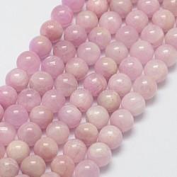 """Chapelets perles en kunzite/spodumène naturelle, rond, 6mm, trou: 1mm; environ 60 pcs/chapelet, 15.7""""(G-D856-03-6mm)"""