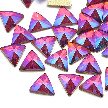 7mm Triangle Glass Rhinestone Cabochons