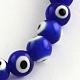 Main ronde perles au chalumeau mauvais œil brins(X-LAMP-R114-8mm-02)-1